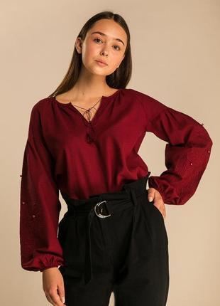 Вышиванка, женская рубашка с широкими рукавами