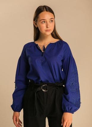 Вышиванка, женская блуза с широкими рукавами