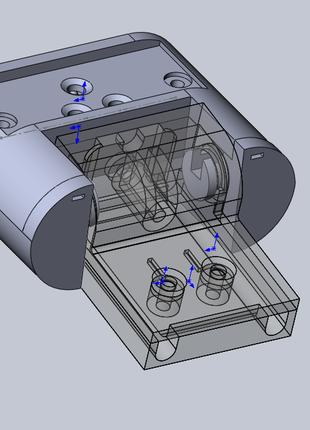 3d-модель по эскизу, модель детали путем реверс-инжиниринга, в...