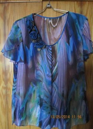 Нарядная блуза из мягкого шифона