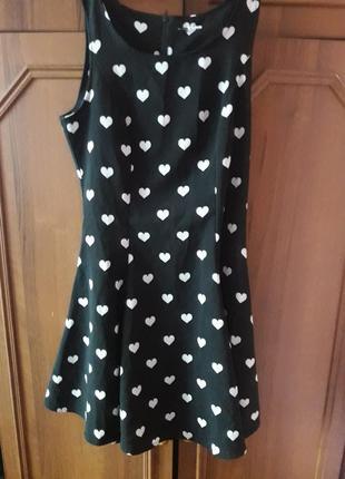Платье в сердечки h&m