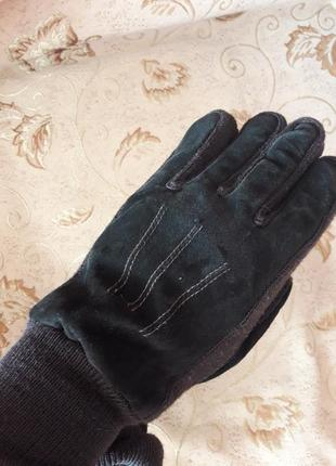 Зимние перчатки замша