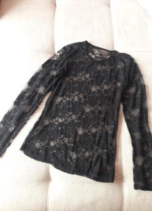Красивая гипюровая кофточка блузка
