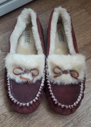 Туфли тапочки на меху hotter