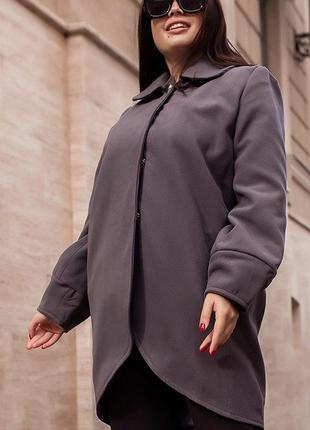 Пальто 858554-1 серый осень