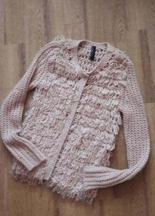 Шикарный пудровый свитер в составе ангора saopaulo