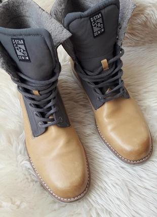 Кожаные ботинки g-star raw 40 размер