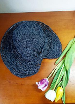 Шляпа панама капелюшок из рафии