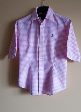 Ralph lauren розовая рубашка