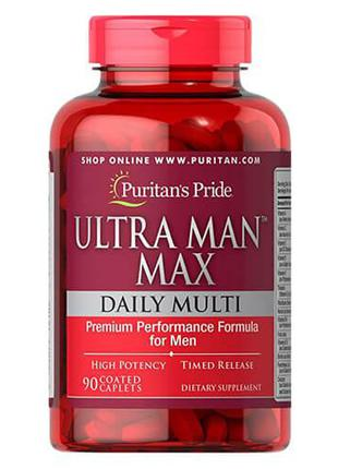 Мультивитамины для мужчин, Puritan's Pride Ultra Man Max 90 таб