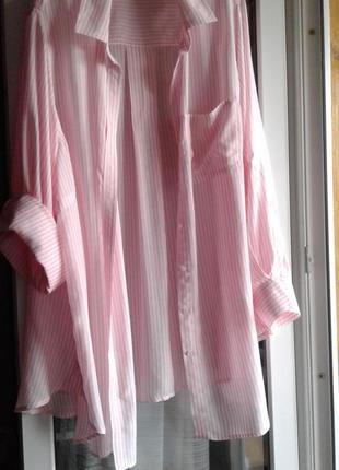 Нарядная блуза-туника из тонкого мягкого хлопка