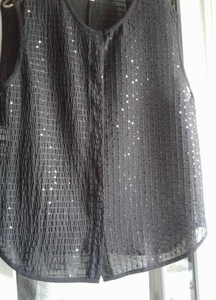 Нарядная блузка с пайетками RACHEL ROY