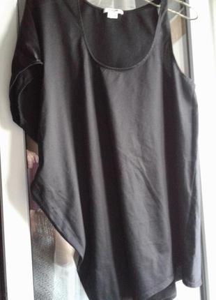 Майка -блузка из полированного хлопка