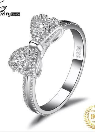 Серебряное кольцо бант