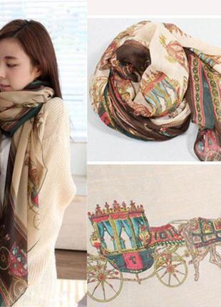 Большой нарядный шарф -палантин
