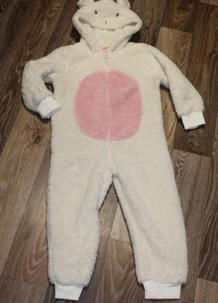 Мягкая пижама кингуруми  на ребенка 4-5 лет в идеальном состоянии