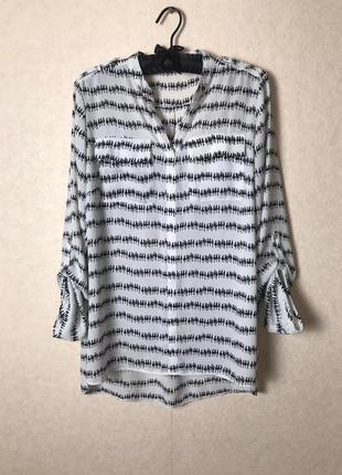 Славная  рубашка блузка с принтом marks&spencer.