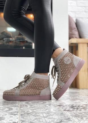 🌹christian louboutin louis spikes🌹шикарные женские кроссовки/к...