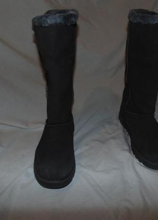 Сапоги ботинки уги замша и мех утепление skechers оригинал нов...