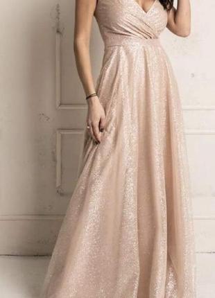 Свадебное платье, цвет айвори