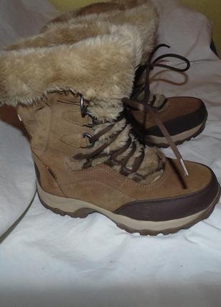 Ботинки зимние сапоги мембрана hi-tec оригинал замша новые раз...