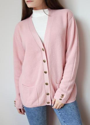 Винтажный нежно-розовый кардиган от damart