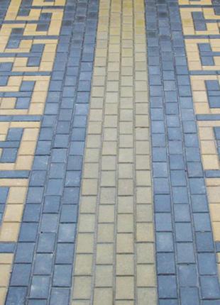 Тротуарная плитка Кирпичик с фаской 200*100*40 мм- для пешеходных