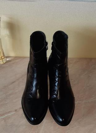 Казаки  черные козаки ботинки демисезонные