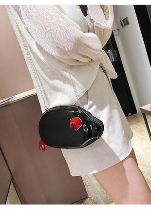 Мини сумочка клатч так на цепочке хрюша поросёнок с хвостиком