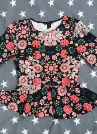 Кофта блузка с баской