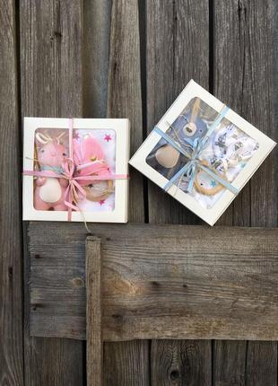 Подарочный набор на выписку, крестины, набор для новорожденных...