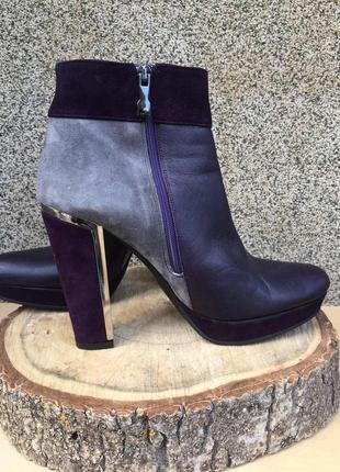 Ботинки женские ботильоны высокий каблук albano италия