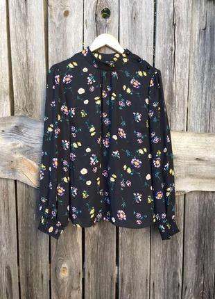 Блузка цветы цветочный принт красивый рукав