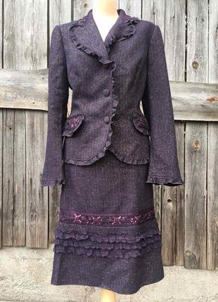 Костюм юбка пиджак, нарядный костюм 52 размер