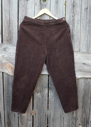 Модные актуальные вельветовые брюки бриджи капри