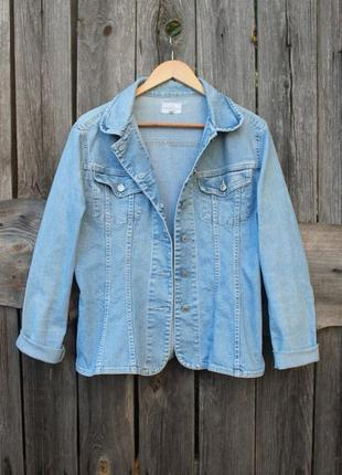 Джинсовый жакет, джинсовка, пиджак джинсовый, куртка джинсовая