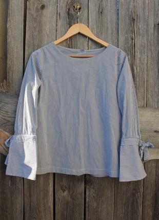 Оригинальная блузка рубашка в полоску