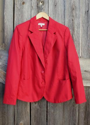 Красный женский жакет пиджак, костюм женский