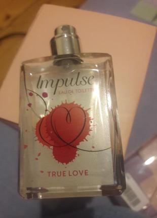 Туалетна вода impulse true love з дозатором
