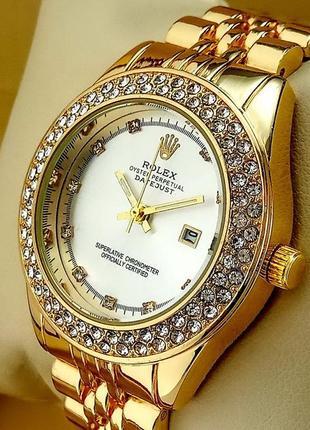 Кварцевые наручные часы Rolex с гравировкой на браслете