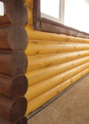 Покраска стен в деревянном доме