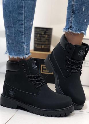 Женские зимние ботинки Timberland чёрные