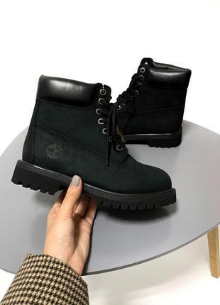 Шикарные женские осенние ботинки timberland black 😍 (без меха/...