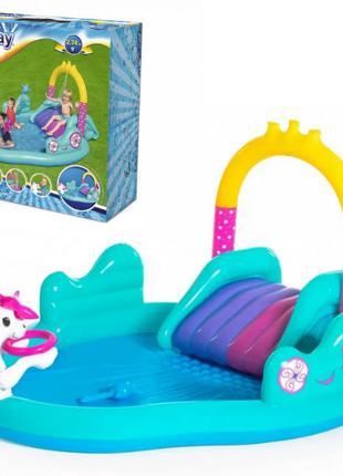 Детский игровой надувной центр BW53097 с горкой, игровой надув...