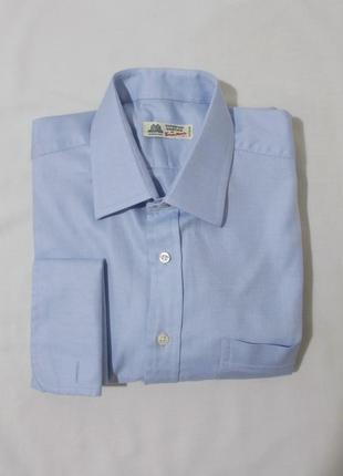 Рубашка голубая из твила под запонки 'thomas mason' 52-54р