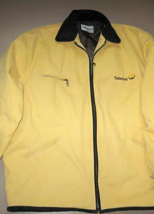Timberland зимняя мужская куртка р=48 (l) яркая желтая джинсовая