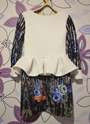 Платье с баской на рост 122