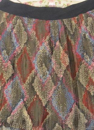 Плиссированная юбка в летний принт!