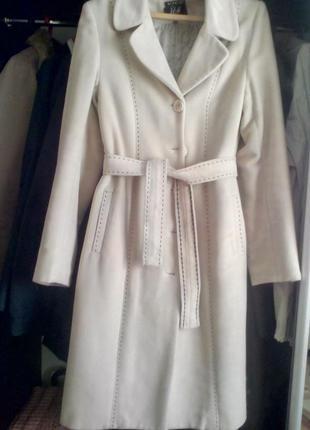 Пальто кашемировое женское демисезонное зимнее (нюанс)