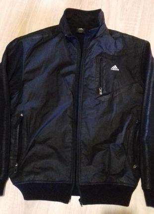 Распродажа! куртка мужская плащевка + трикотаж аdidas